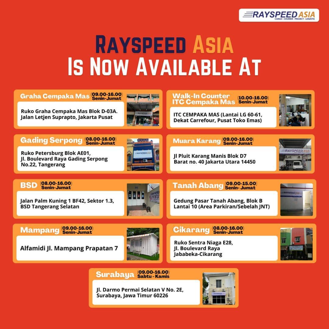 Lokasi Service Point Rayspeed Asia
